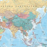 mapa świata na ścianę